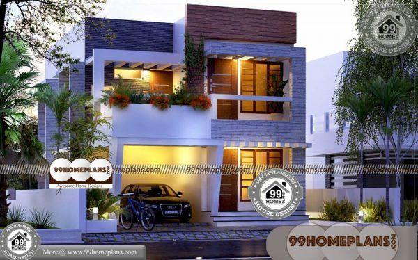 2 Story Narrow House Plans 60 Contemporary Kerala Home Plans In 2021 Narrow House Plans House Arch Design Latest House Designs Small contemporary house plans kerala