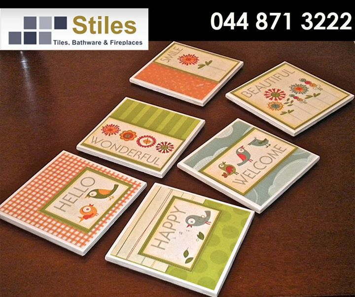 Do you have some extra tiles lying around ? Using a bit of creativity and a few crafting supplies, you can turn them into beautiful coasters. #DIY #weekendwarrior #StilesGeorge