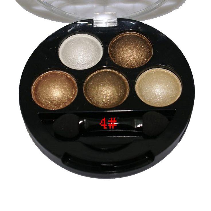 Тени для век мерцание 5 цветов матовая палитры макияжа окне макияж палитра теней для век купить на AliExpress