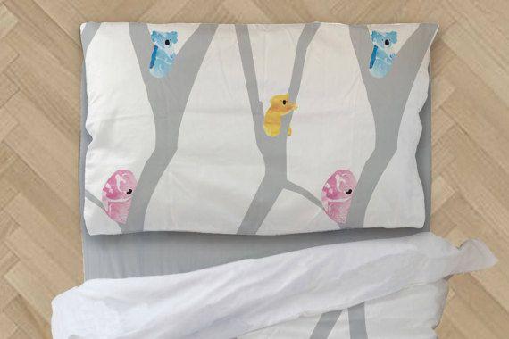 Kids Duvet Cover - White Duvet - Toddler Duvet Cover - Twin Duvet Cover - Kids Bedding - Crib Bedding