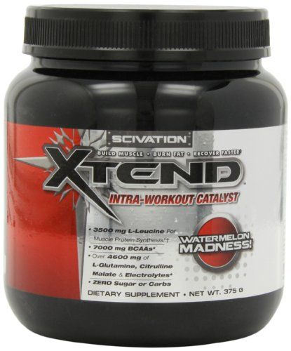 Scivation Xtend Intra-Workout Catalyst, Watermelon Madness, 375 Grams | Multicityhealth.com  List Price: $36.99 Discount: $15.75 Sale Price: $21.24