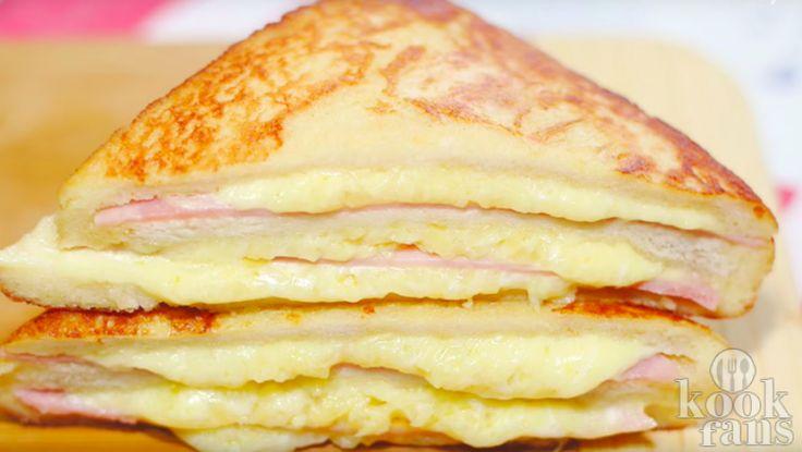 Wij watertanden nu al! In Amerika is de populaire Monte Cristo sandwich niet aan te slepen. De speciale tosti is de Amerikaanse variant van Croque Monsieur. Een heerlijk, vullend en romig gerecht dat iedereen een keer moet hebben gehad. Wat heb je nodig voor twee porties? 6 plakjes wit
