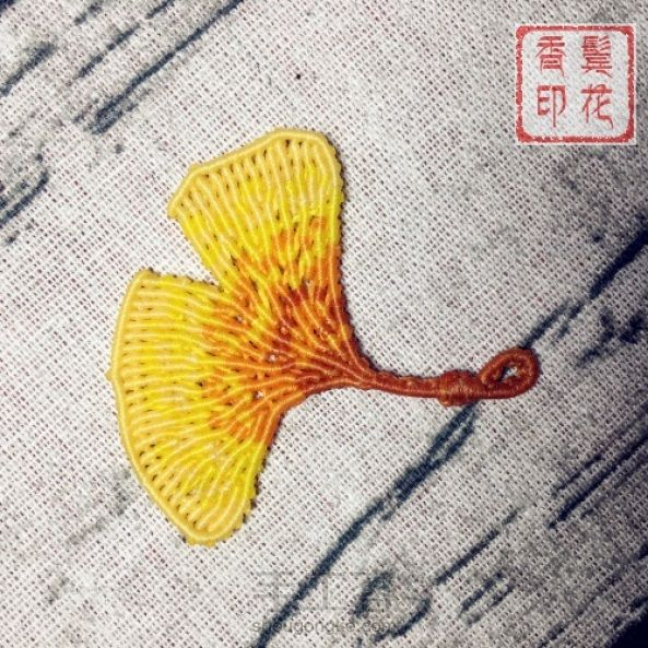 Macrame Tutorial 银杏叶蜡线编织