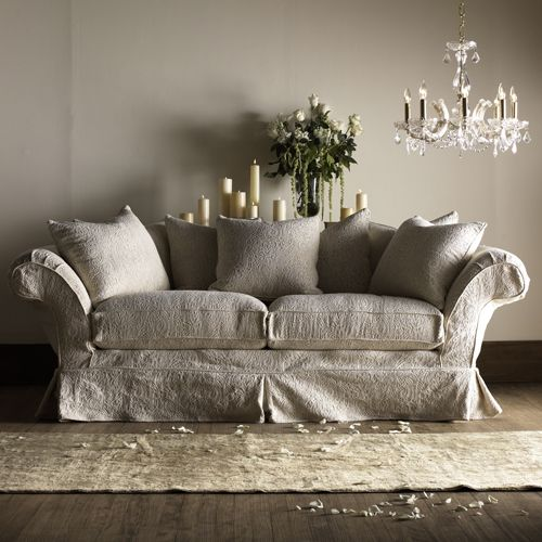 shabby chic white sofa rachel ashwell white denim sofa slipcover shabby chic couch cover thesofa. Black Bedroom Furniture Sets. Home Design Ideas