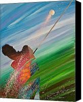 Abstract Golf Painting by Douglas Fincham - Abstract Golf Fine Art Prints and Posters for Sale