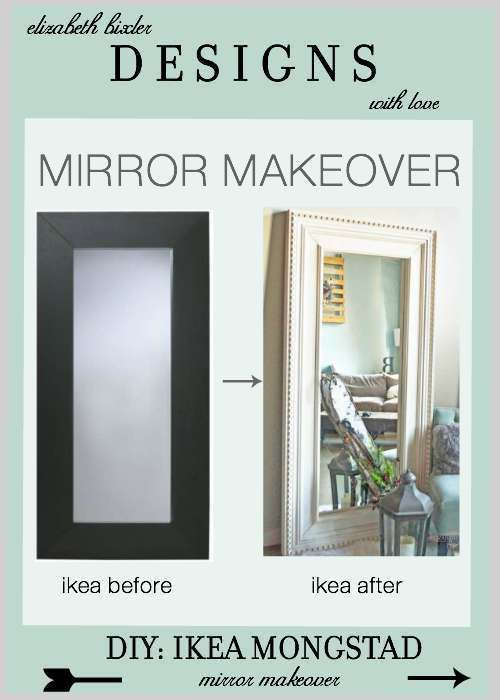 DIY Floor Mirror Ikea Hack using the Mongstad and inspired by Restoration Hardware St James Trim molding at a fraction of the price! http://elizabethbixler.com/diy-ikea-hack-mongstad-mirror-makeover/