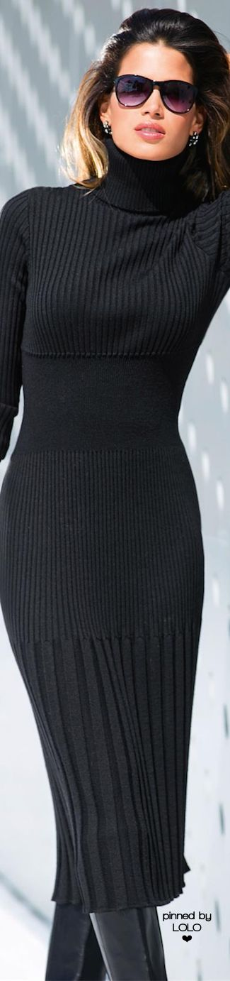Madeleine Fall | LOLO❤ If you have the figure for it, nothing beats a sweater dress.