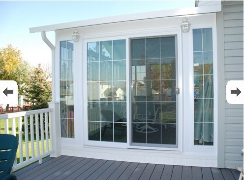 17 best images about breezeway on pinterest jalousies for Patio doors with side windows