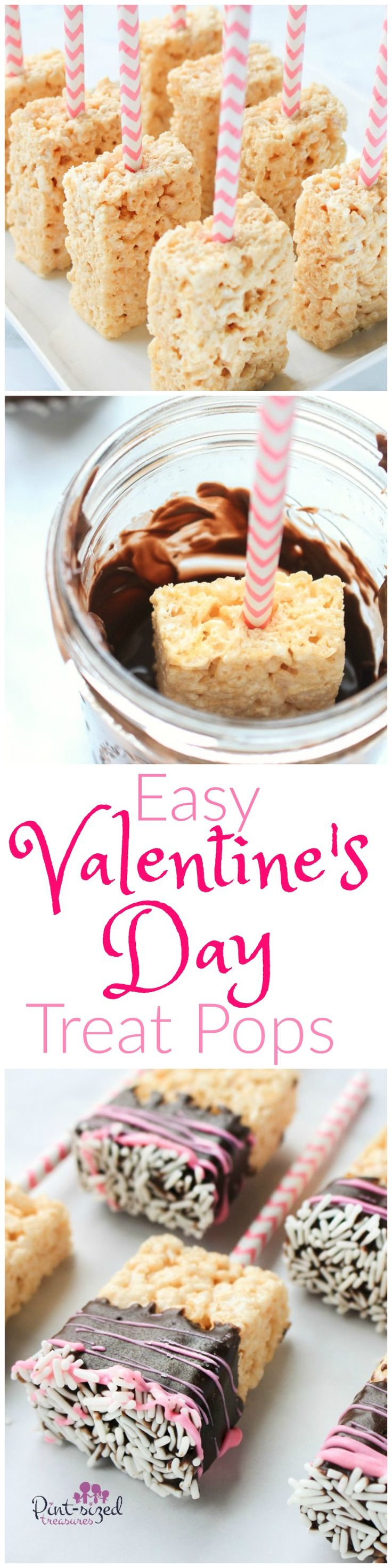 Valentine's Day treat pops are the perfect, easy treat to add to your Valentine's Day party! These ooe-y gooey treats are dipped in chocolate and then scribble dead decked with Valentine's day garnishes. Enjoy this amazing homemade recipe that makes all the kids AND adults smile on Valentine's Day!