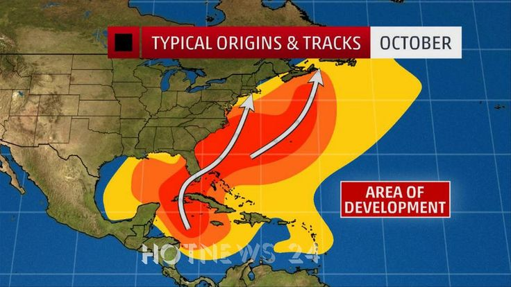 Where the October Hurricane Threat is the Greatest-HOTNEWS 24
