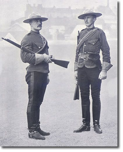The original Northwest Mounted Police uniform