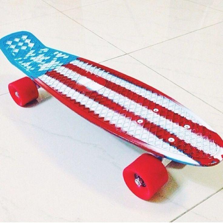 American flag penny board