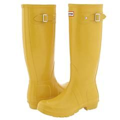 Yellow rain boots are classic.