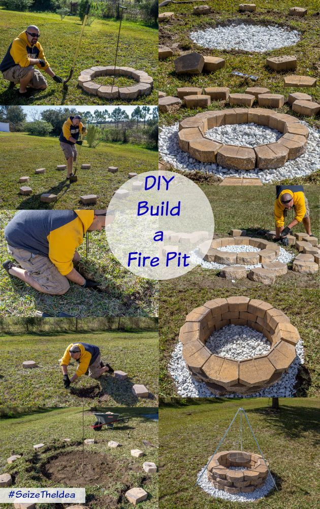 How to Build a Fire Pit #DIY