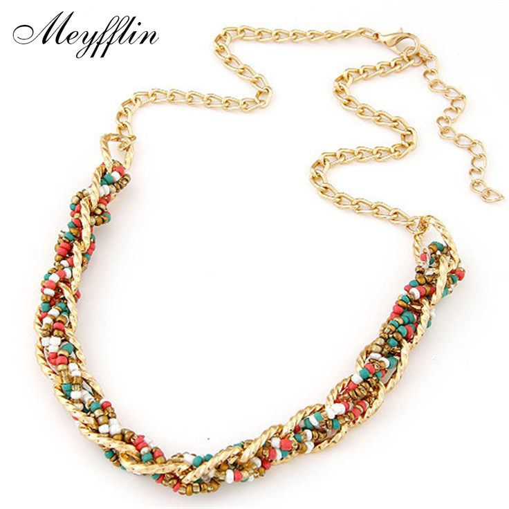 Bohemian Boho Statement Necklaces & Pendants for Women Collier Femme 2017 Fashion Vintage Beads Collares Mujer Ethnic Jewelry