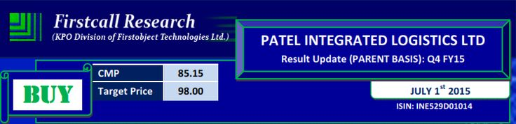 Firstcall recommend Patel Integrated Logistics on bullish transportation sector