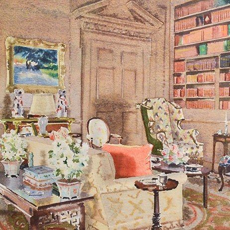 Elizabeth Hoopesu0027s Watercolors On View At The New York School Of Interior  Design