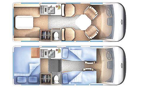 Chevrolet 3500 Minivan Camper Interior Layout