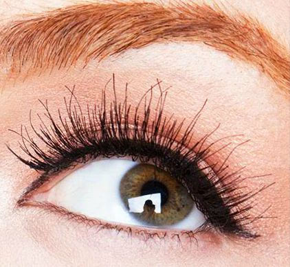 Natural looking false lashes.