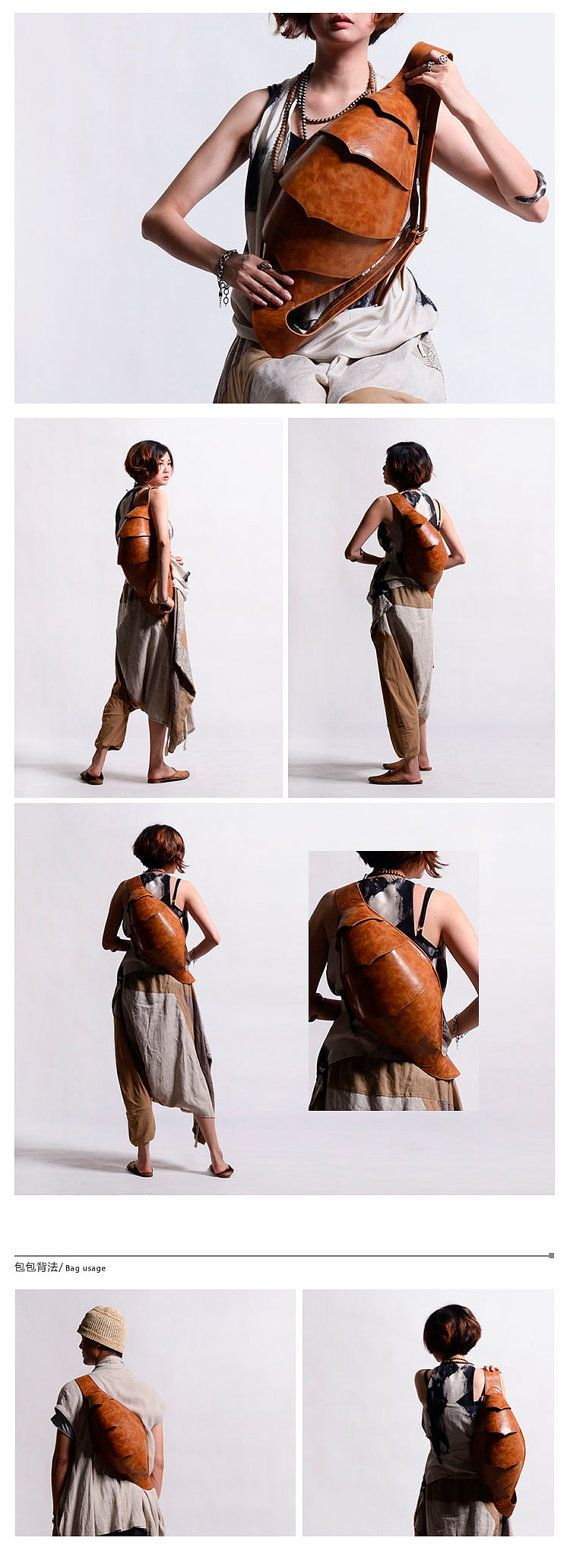 Leder Messenger Rucksack Herren Messenger Bag coole von KiliDesign