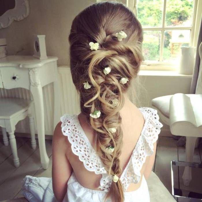Coiffure petite fille communion - 40 coiffures de petite fille qui changent des couettes  - Elle