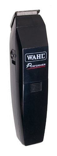 Wahl Performer Battery Operated Beard and Mustache Trimmer rechargeable cord/cordless with high carbon steel blades precision ground to stay sharp longer, beard regulator along with bare blades provide 6 trimming length for versatility plus v-trim guide and close-trim attachments that allow for detailing and edging.