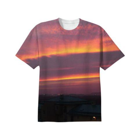 cool purple sunset t-shirt