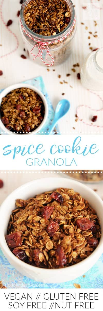 This festive Spice Cookie Granola is a perfect gif…