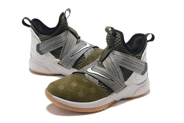 huge selection of 92d60 59fbb Nike LeBron Soldier 12 Land and Sea Olive Green AO2609-300-3