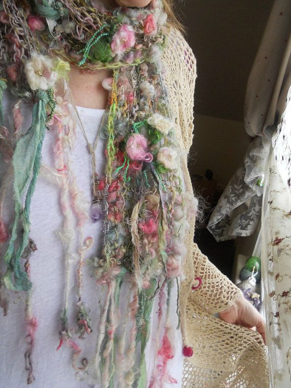 Stunning... RESERVED enchanted and sparkling handknit art by beautifulplace, $80.00