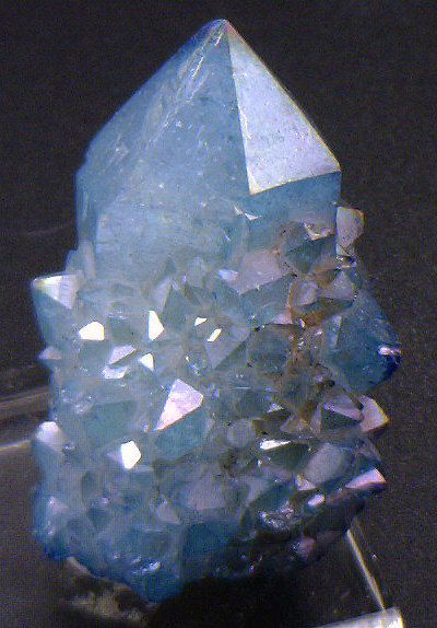 Blue Aqua Aura Cactus Quartz Crystals for Sale by BandLMinerals