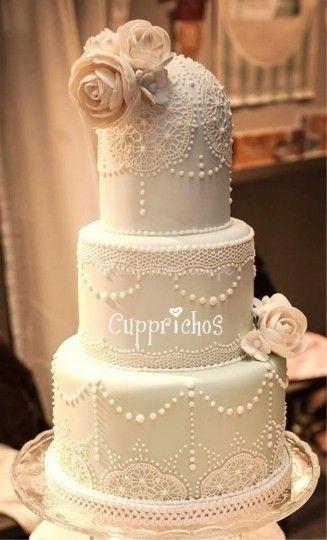 Tortas de matrimonio en Lima. Encaje de azúcar de Cupprichos Cupcakes | Foto 15