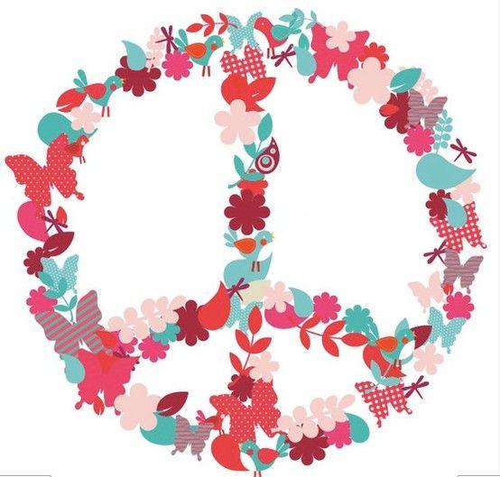 simbolo de la paz rosa