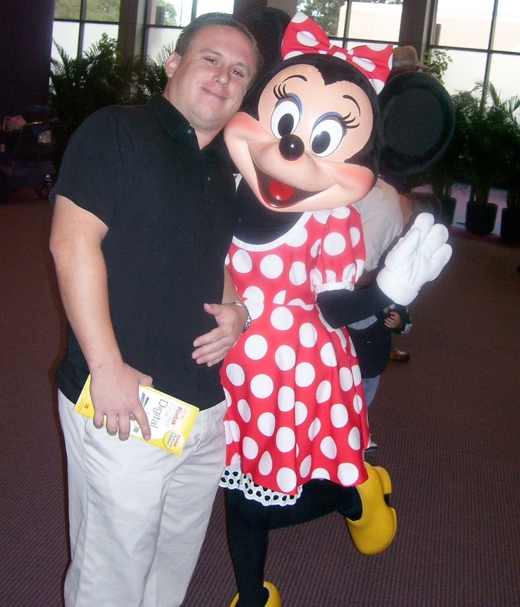 Jon in one of his favorite places -- the Magic Kingdom -- with Minnie!: Minnie, Jonathan Hershey, Favorite Places, Magic Kingdom