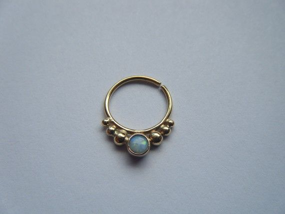 Alpha 18k yellow gold/20g/opal by aprilsblissed on Etsy, $85.00