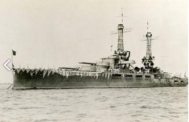 USS Oklahoma - BB-37 - World War II - Pearl Harbor