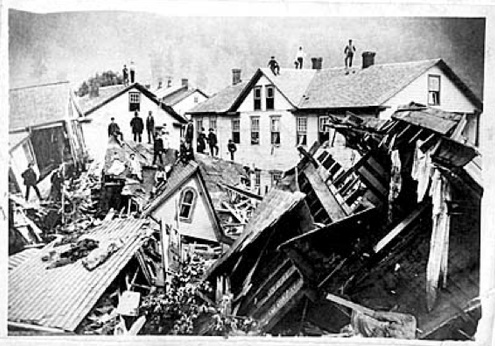 May 31, 1889: Flood in Johnstown, PA  ~ more than 2,200 people were known to be dead and hundreds more were missing. Property damage amounted to $17 million. The cleanup operation would take five years, and bodies were still being found months and even years after the flood.