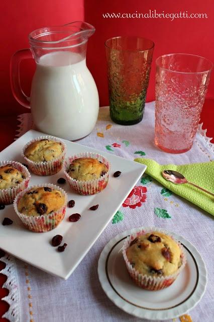 Muffin ai mirtilli rossi essiccati (cranberry)