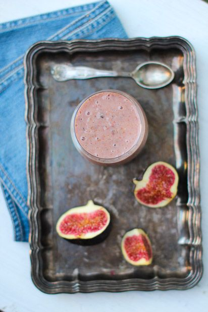 Fig smoothie makes my morning.