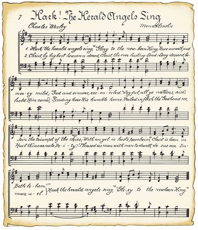Free printable sheet music WITH A VINTAGE LOOK ~ this could come in handy for decor crafts!