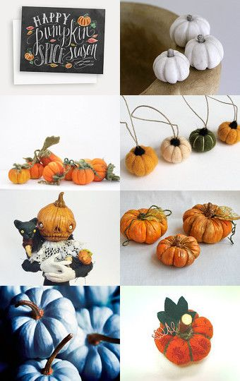 My pumpkins family was featured in Pumpkin №1 by Vasilinka on Etsy