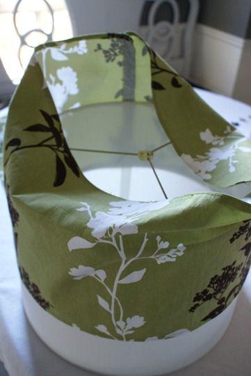 Slip covered lampshade DIY