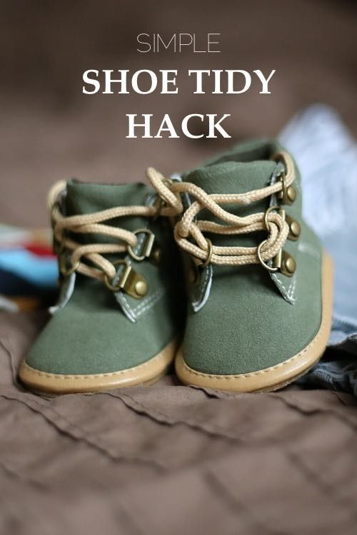 One Simple Shoe Tidy Hack for a tidier home and a stress free life.