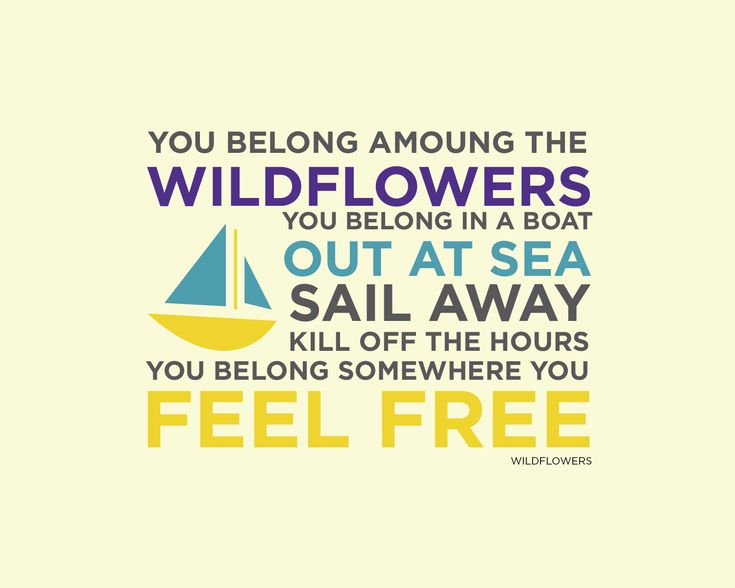 wild flowers by tom petty quote - FREE 8x10 print available for download