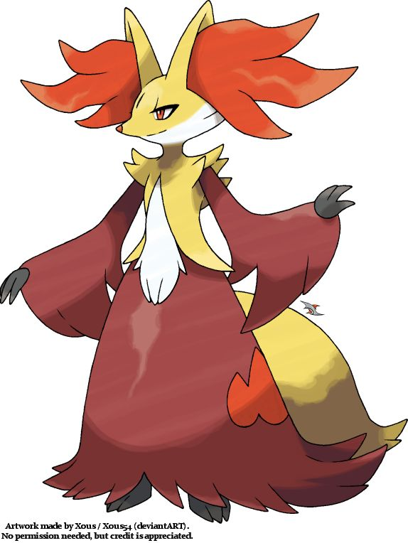 My Artwork For Delphox The Fire Psychic Type Evolution Of Braixen From Pokmon X And Y