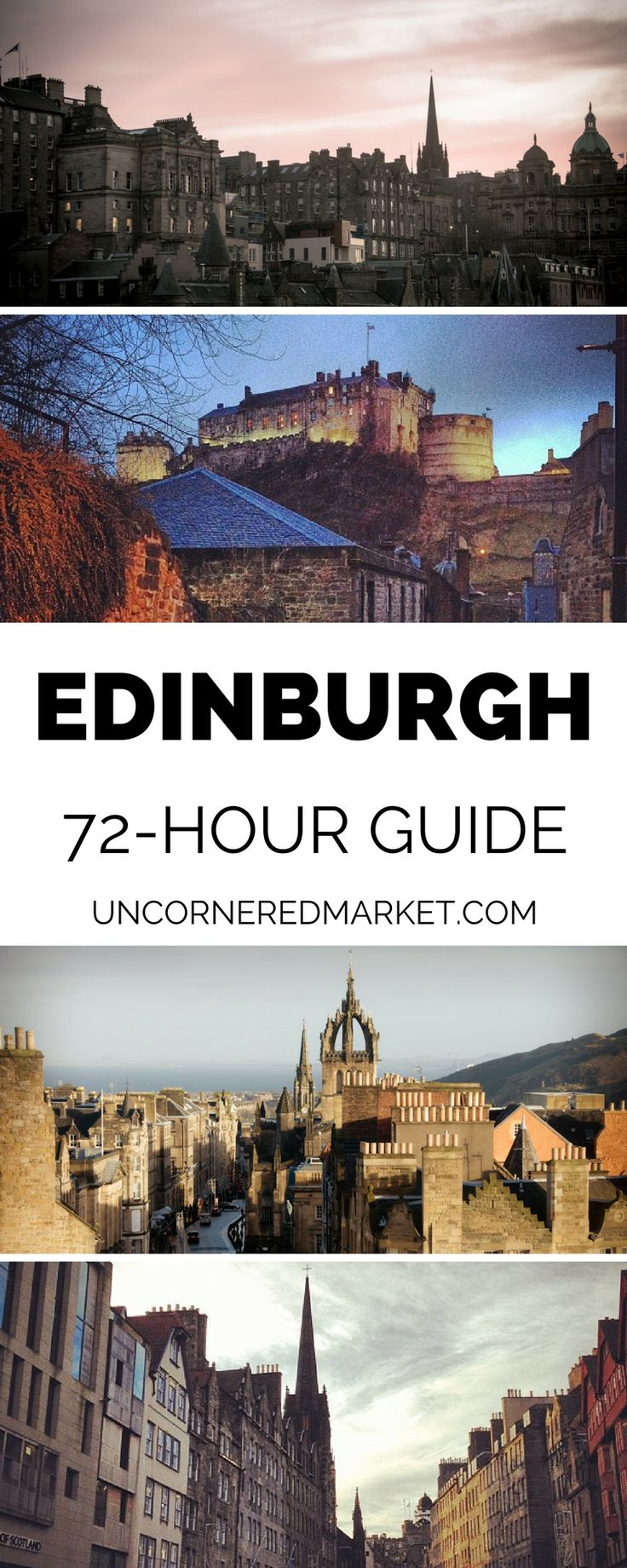 A 3 day guide to exploring Edinburgh, Scotland. Best things to do, what to see and where to eat and drink in Scotland's capital city.| Uncornered Market Travel Blog: Travel Wide, Live Deep   #europe #edinburgh #traveltips