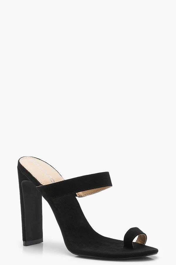 Toe Post Mule Heels | boohoo | Heeled