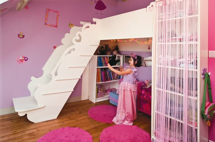 Un lit de princesse en mezzanine pour lucie ma grande aile pinterest kid i want to and plays - Bed mezzanie kind ...