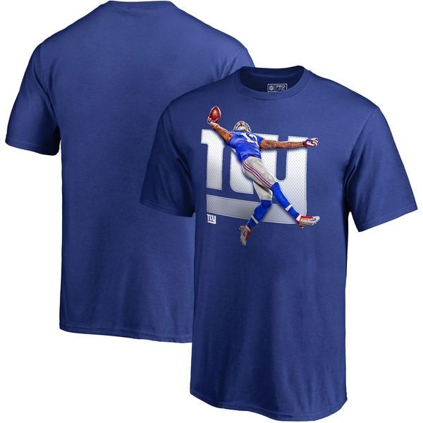 Odell Beckham Jr New York Giants NFL Pro Line by Fanatics Branded Youth Hometown Collection The Catch T-Shirt - Royal - $24.99