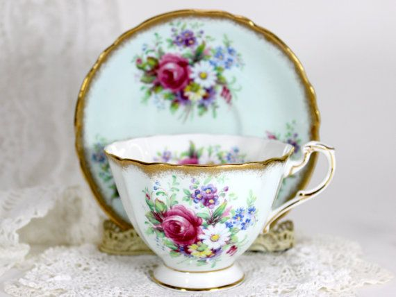 Paragon Bone China Tea Cup Teacup and Saucer by TheVintageTeacup